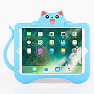 Kompatibilitás tokok Ütésálló Állvánnyal Minta Hátlap Case Cica 3D figura Puha Szilikon mert Apple iPad Pro 9.7 '' iPad Air 2