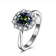 お買い得  -女性用 キュービックジルコニア / 合成ダイヤモンド 指輪  -  ステンレス鋼, キュービックジルコニア フラワー ファッション 6 / 7 / 8 ホワイト 用途 おめでとう / 贈り物 / 日常