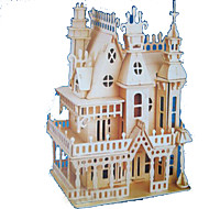 cheap Toys & Hobbies-3D Puzzles Jigsaw Puzzle Model Building Kits Wood Model Rectangular Castle Famous buildings Architecture 3D Wood Natural Wood All Ages