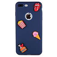 Etui til Apple iPhone 7 plus 7 Cover Mønster Bag Cover Cover Food Heart 3D Tegneserie Blød Silikone 6s plus 6 plus 6 6s 5 5s