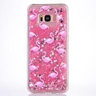 Кейс для samsung galaxy s8 s8 плюс кейс крышка розовый фламинго шаблон tpu материал полная мягкая любовь флеш-пудра quicksand телефон