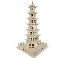 halpa Harrastukset-3D palapeli Palapeli Puumalli Lelut Pyöreät Torni Kuuluisa rakennus Talo Arkkitehtuuri Simulointi Puu Aitoa puuta Lasten Ei määritelty