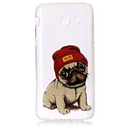 Чехол для samsung galaxy j3 (2016) j3 чехол для чехлов собака шаблон высокий прозрачный tpu материал imd craft шифон телефон корпус j7