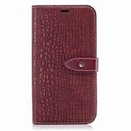 お買い得  携帯電話ケース-ケース 用途 Motorola カードホルダー ウォレット フリップ 磁石バックル フルボディーケース 純色 ハード PUレザー のために モトG5プラス Moto G5