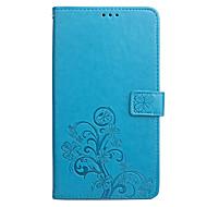 preiswerte Handyhüllen-Hülle Für Asus Kreditkartenfächer Geldbeutel mit Halterung Flipbare Hülle Geprägt Ganzkörper-Gehäuse Volltonfarbe Blume Hart PU-Leder für