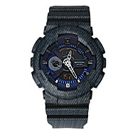preiswerte -Herrn Sportuhr Digitaluhr Japanisch Quartz digital Alarm Wasserdicht Duale Zeitzonen Caucho Band Freizeit Cool Blau Marinenblau