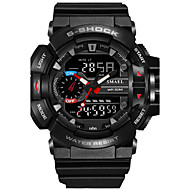 cheap Brand Watches-SMAEL Men's Sport Watch Military Watch Digital Watch Japanese Digital 50 m Water Resistant / Water Proof Calendar / date / day Chronograph PU Silicone Band Analog-Digital Casual Fashion Black / Red