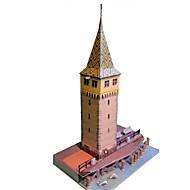 Χαμηλού Κόστους Αξεσουάρ για παιχνίδια και χόμπι-Παζλ 3D Χάρτινο μοντέλο Χειροτεχνία με Χαρτί Kit de Construit Πύργος Διάσημο κτίριο Κινεζική αρχιτεκτονική Αρχιτεκτονική Φάρος Φτιάξτο