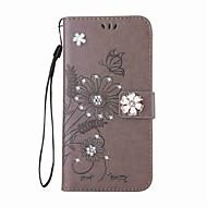 tanie Galaxy S5 Mini Etui / Pokrowce-Kılıf Na Samsung Galaxy S8 Plus S8 Portfel Etui na karty Stras Z podpórką Flip Wytłaczany wzór Wzór Magnetyczne Futerał Motyl Kwiaty