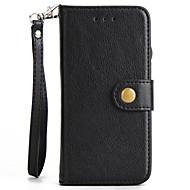 Недорогие Чехлы и кейсы для Galaxy S7 Edge-Кейс для Назначение SSamsung Galaxy S8 Plus S8 Бумажник для карт со стендом Флип Чехол Сплошной цвет Твердый Искусственная кожа для S8 S8