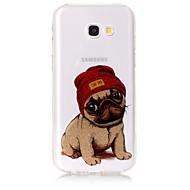 Недорогие Чехлы и кейсы для Galaxy А-Кейс для Назначение SSamsung Galaxy A5(2017) A3(2017) IMD С узором Кейс на заднюю панель С собакой Сияние и блеск Мягкий ТПУ для A3