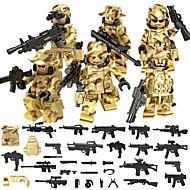 preiswerte Spielzeuge & Spiele-DILONG Bausteine Minifiguren aus Blockbausteinen Bildungsspielsachen 106 pcs Militär Krieger Unisex Jungen Mädchen Spielzeuge Geschenk