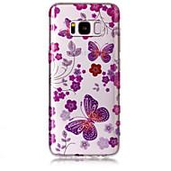 Недорогие Чехлы и кейсы для Galaxy S8-Кейс для Назначение SSamsung Galaxy S8 Plus S8 IMD С узором Задняя крышка Бабочка Сияние и блеск Мягкий TPU для S8 S8 Plus S7 edge S7 S6