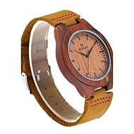 お買い得  -男性用 腕時計 ウッド 日本産 クォーツ 木製 本革 バンド Elegant ブラウン