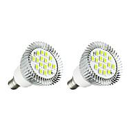 2 stuks 5W E14 LED-spotlampen E14 / E12 16 leds SMD 5630 LED verlichting Wit 380lm 3000-3500/6000-6500K AC 85-265V