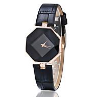 billige Trendy klokker-Dame Quartz Armbåndsur Imitasjon Diamant Lær Band Kreativ Fritid Mote Svart Hvit Blå Rød Brun