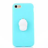 abordables Novedades-Funda Para Apple iPhone 7 Plus iPhone 7 Blando Manualidades Funda Trasera Color sólido Dibujo 3D Suave Silicona para iPhone 7 Plus iPhone
