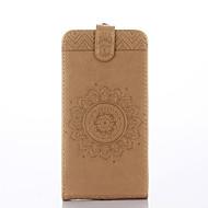 Til Samsung Galaxy Grand Prime Case Cover Kortholder med stativ flip præget fuld kropscase solid farve blomst hårdt pu læder