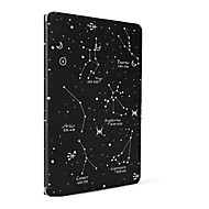 Voor appel ipad (2017) air 2 case hoesje met standaard flip patroon auto slaap / wakker full body case cartoon hard pu leren lucht mini4 /