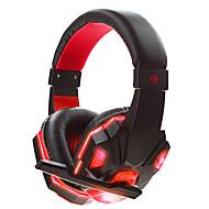 저렴한 -soyto SY830MV-R 머리띠 유선 헤드폰 동적 게임 이어폰 소음 차단 스테레오 마이크 포함 볼륨 컨트롤 헤드폰