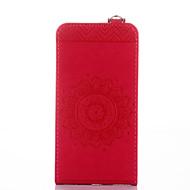 preiswerte Handyhüllen-Hülle Für Huawei Kreditkartenfächer mit Halterung Flipbare Hülle Geprägt Ganzkörper-Gehäuse Volltonfarbe Blume Hart PU-Leder für Huawei