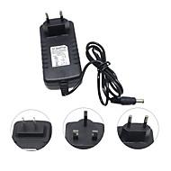 Hkv® dc 12v til ac 110-240v 3a os plug us plug eu plug strømforsyning belysning transformer konverter switch oplader adapter til led strip