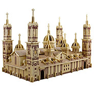 cheap Toy & Game-3D Puzzle / Jigsaw Puzzle / Model Building Kit Church / Plaza del Pilar DIY / Simulation Wooden Classic Kid's / Adults' Unisex Gift
