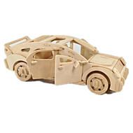 tanie Zabawki i hobby-Samochodziki do zabawy Zabawki 3D Puzzle Drewniane modele Samolot Samochód 3D DIY Drewniany Klasyczny Dla chłopców Dla obu płci Prezent
