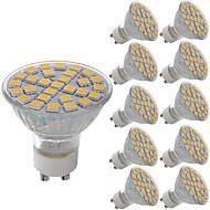 お買い得  LED スポットライト-10個 5W 380lm GU10 MR16 E26 / E27 LEDスポットライト 29 LEDビーズ SMD 5050 装飾用 温白色 クールホワイト 220-240V