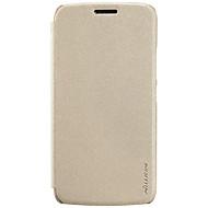 お買い得  携帯電話ケース-ケース 用途 Motorola フリップ つや消し フルボディーケース 純色 ハード PUレザー のために モトG5プラス Moto G5