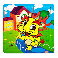 cheap Toys & Hobbies-Jigsaw Puzzle Toys Dragon House 3D Cartoon Wooden Not Specified Pieces