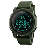 Недорогие Фирменные часы-SKMEI Муж. Спортивные часы Армейские часы Наручные часы Японский Цифровой 50 m Защита от влаги Будильник Календарь силиконовый Группа Цифровой На каждый день Мода Черный / Зеленый - Черный Зеленый