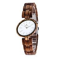 お買い得  -女性用 腕時計 ウッド 日本産 クォーツ 木製 ウッド バンド チャーム ラグジュアリー エレガント腕時計 ブラウン