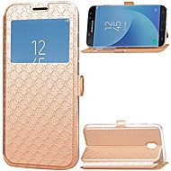 Case for Samsung Galaxy J7 (2017) J5 (2017) Card Holder with Stand Windows Full Body Solid Color Hard PU Leather J3 (2017)