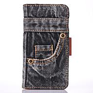 Недорогие Кейсы для iPhone 8 Plus-Назначение iPhone 8 iPhone 8 Plus Чехлы панели Кошелек Бумажник для карт со стендом Чехол Кейс для Мультипликация Твердый Текстиль для