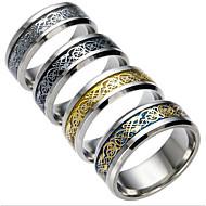 abordables Anillos-Hombre Zirconia Cúbica Alianzas - Otros Moda Dorado Negro Plata Azul Oscuro anillo Para Diario