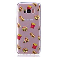 Недорогие Чехлы и кейсы для Galaxy S-Кейс для Назначение SSamsung Galaxy S8 Plus S8 Прозрачный С узором Задняя крышка Продукты питания Мягкий TPU для S8 S8 Plus S7 edge S7