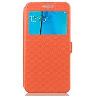 Недорогие Чехлы и кейсы для Galaxy Note-Кейс для Назначение SSamsung Galaxy Бумажник для карт со стендом Флип Рельефный Чехол Геометрический рисунок Твердый Кожа PU для Note 5