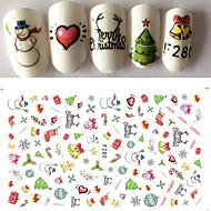 1 Nail Art tarra 3-D Joulu DIY-tarvikkeet Tarra meikki Kosmeettiset Nail Art Design