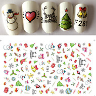 1 Nail Art autocolant 3-D Crăciun Consumabile DIY Autocolant machiaj cosmetice Nail Art Design