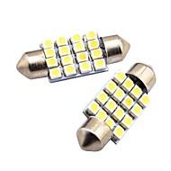 Недорогие Внешние огни для авто-2pcs Автомобиль Лампы 80W SMD LED 800lm 16 Внешние осветительные приборы For Универсальный Все модели Все года