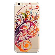 Case For Apple iPhone X iPhone 8 iPhone 8 Plus Transparent Pattern Back Cover Flower Soft TPU for iPhone X iPhone 8 Plus iPhone 8 iPhone