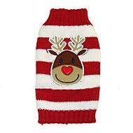 Hond Jassen Truien Hondenkleding Feest Vakantie Casual/Dagelijks Modieus Bruiloft Kerstmis Nieuwjaar Rendier Zwart Rood Blauw Kostuum