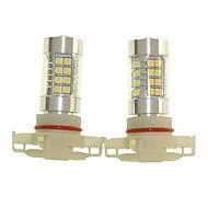 abordables -SENCART 2pcs H16 Automatique Ampoules électriques 36W SMD 3030 1500-1800lm Ampoules LED Feu Antibrouillard