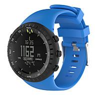 Недорогие Аксессуары для смарт часов-Для suunto core все черные резиновые ремни замена ремешок для часов ремешок аксессуары с инструментом