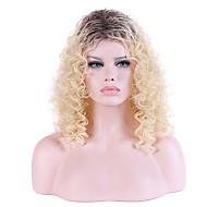 жен. Парики из искусственных волос Без шапочки-основы Длиный Кудрявые Бежевый блондин Волосы с окрашиванием омбре Парик из натуральных