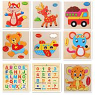 preiswerte Spielzeuge & Spiele-Lernkarten Schreibtisch-Spielzeug Bausteine Holzpuzzle Mathe-Spielzeug Frucht Tiere Hölzern 9pcs Zeichentrick Erwachsene Mädchen Geschenk