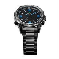 WEIDE Muškarci Ručni satovi s mehanizmom za navijanje Kvarc Japanski kvarc LED Kalendar Kronograf Vodootpornost Sat s dvije vremenske