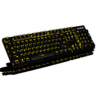 Mechanisch toetsenbord / gaming toetsenbord usb zwarte as multi color backlit ajazz robocop