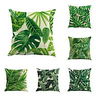 cheap Home Textiles-6 pcs Cotton / Linen Pillow Cover / Pillow Case, Botanical / Novelty / Classic Classical / Retro / Traditional / Classic
